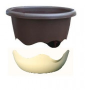 Flower pot Mareta brown beige