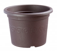 Flower pot Narcis brown
