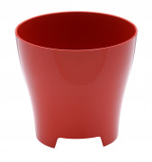 Flower pot Luna red
