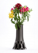 Vase with weight Roseta grey