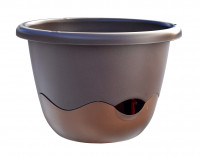 Flower pot Mareta brown bronze