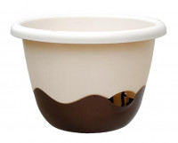Flower pot Mareta beige bronze