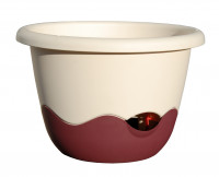 Flower pot Mareta beige wine red