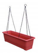 Self-watering box with hanger Bergamot terracotta