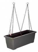 Self-watering box with hanger Bergamot grey