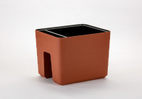 Flower box Balcony box Berberis terracotta