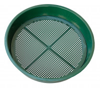 Garden sieve (4 + 6 mm), green