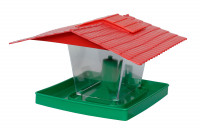 Bird feeder Neckar, plastic, 23 x 14 cm, green/red
