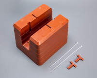 T-piece for balcony flower box Berberis terracotta