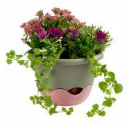 Flower pot Mareta grey pink