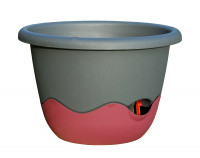 Flower pot Mareta grey wine red